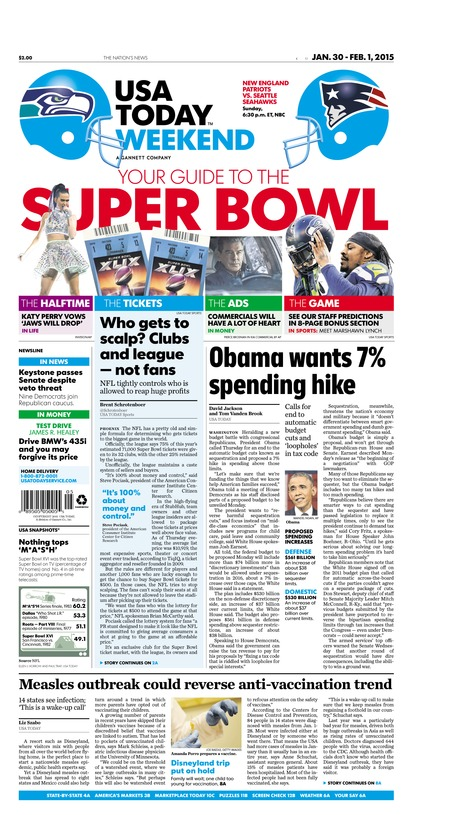 01/30/2015 Issue of USA TODAY