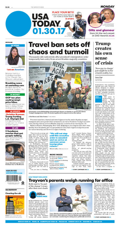 01/30/2017 Issue of USA TODAY