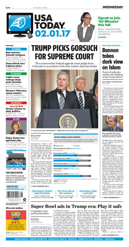 02/01/2017 Issue of USA TODAY