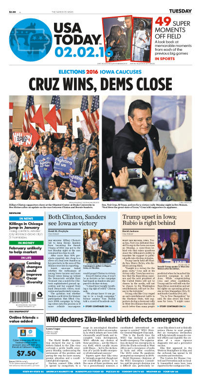 02/02/2016 Issue of USA TODAY