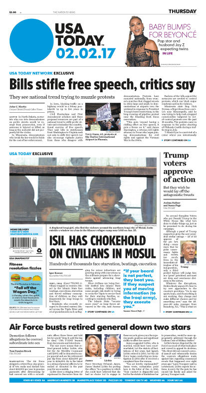 02/02/2017 Issue of USA TODAY