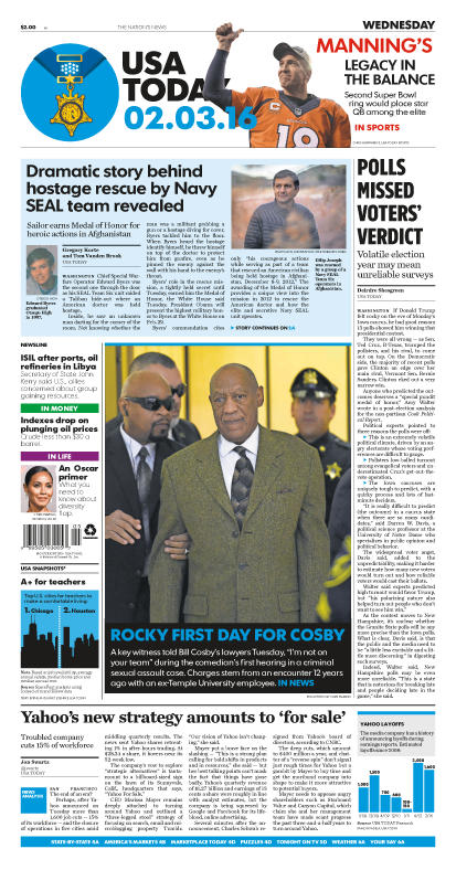 02/03/2016 Issue of USA TODAY