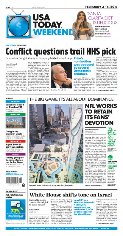 02/03/2017 Issue of USA TODAY