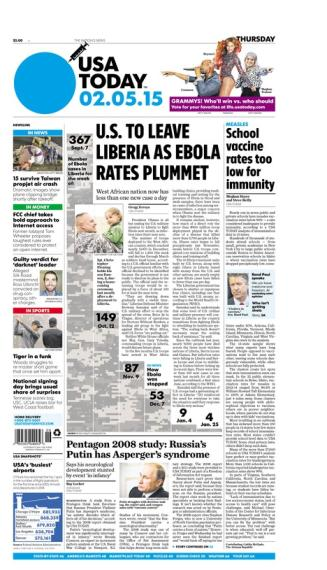 02/05/2015 Issue of USA TODAY