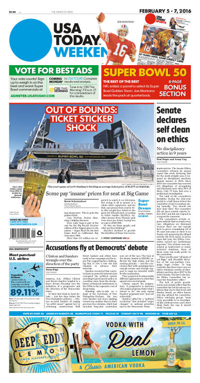 02/05/2016 Issue of USA TODAY