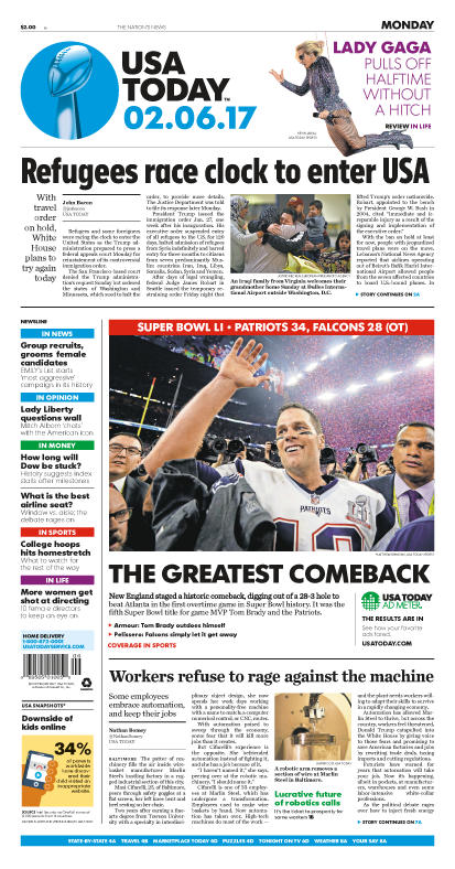 02/06/2017 Issue of USA TODAY