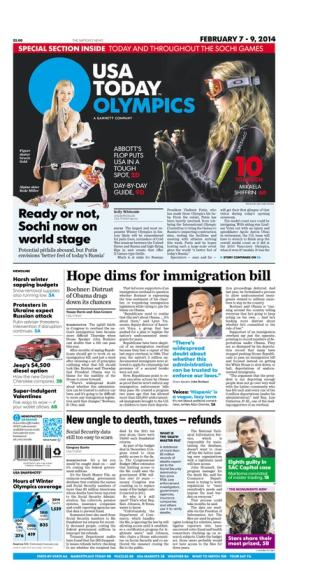 02/07/2014 Issue of USA TODAY