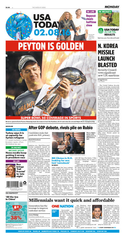 02/08/2016 Issue of USA TODAY