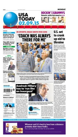 02/09/2015 Issue of USA TODAY