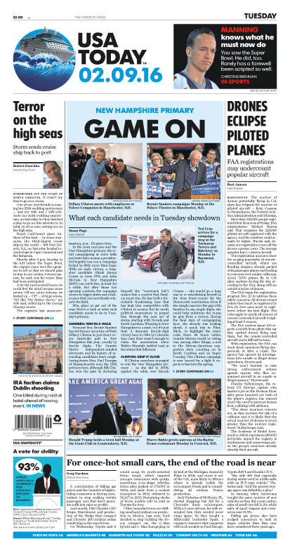 02/09/2016 Issue of USA TODAY