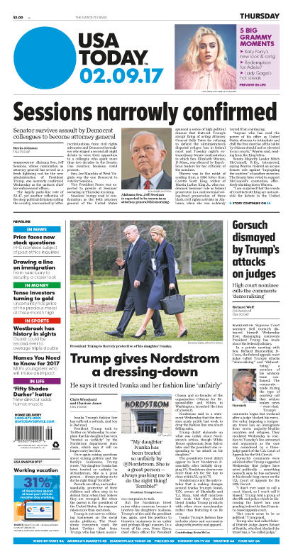 02/09/2017 Issue of USA TODAY