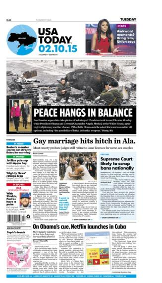 02/10/2015 Issue of USA TODAY