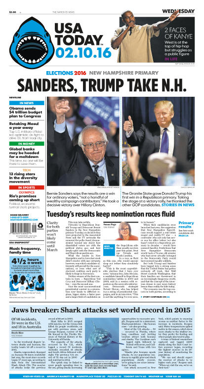 02/10/2016 Issue of USA TODAY
