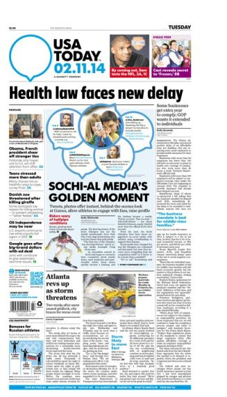 02/11/2014 Issue of USA TODAY