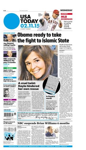 02/11/2015 Issue of USA TODAY
