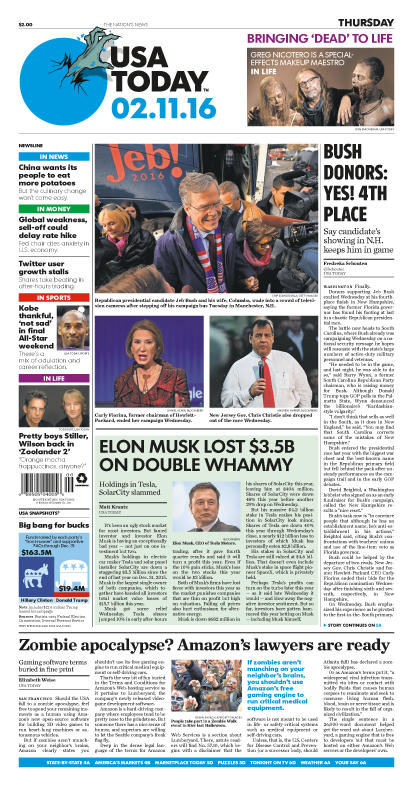 02/11/2016 Issue of USA TODAY