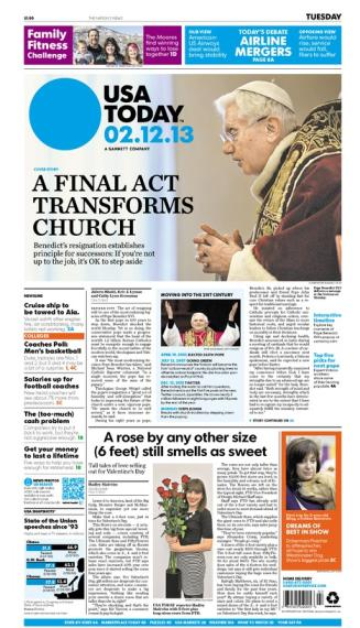 02/12/2013 Issue of USA TODAY