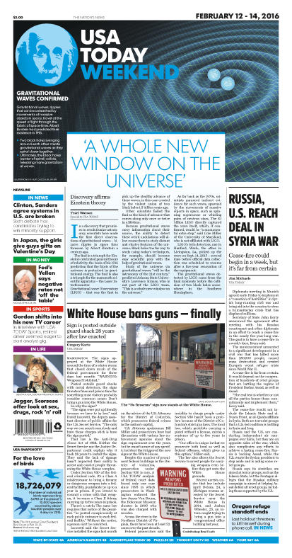 02/12/2016 Issue of USA TODAY