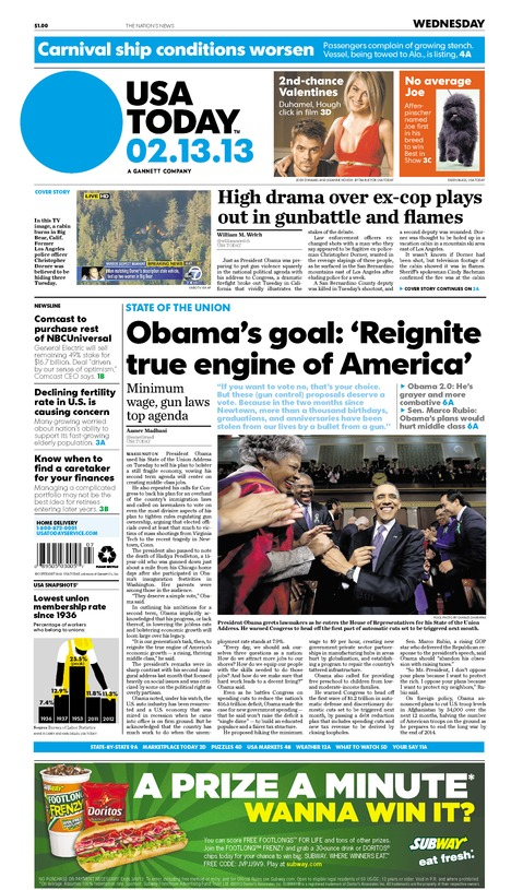 02/13/2013 Issue of USA TODAY