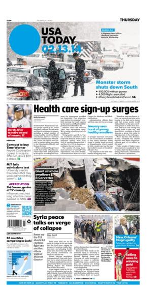 02/13/2014 Issue of USA TODAY