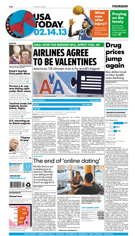 02/14/2013 Issue of USA TODAY