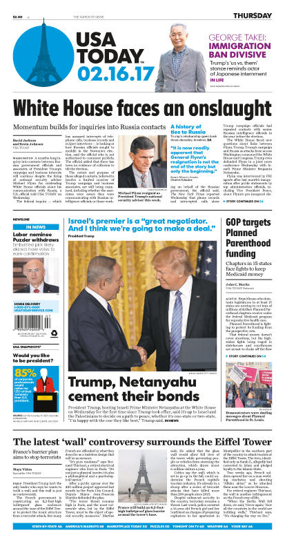 02/16/2017 Issue of USA TODAY MAIN