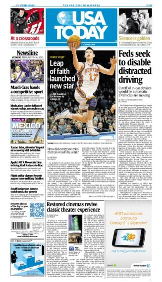 02/17/2012 Issue of USA TODAY