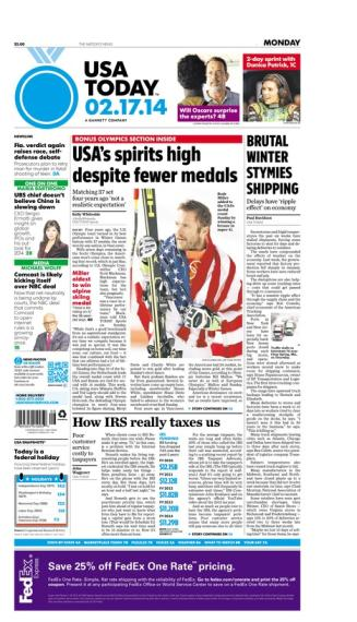 02/17/2014 Issue of USA TODAY