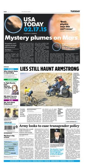 02/17/2015 Issue of USA TODAY
