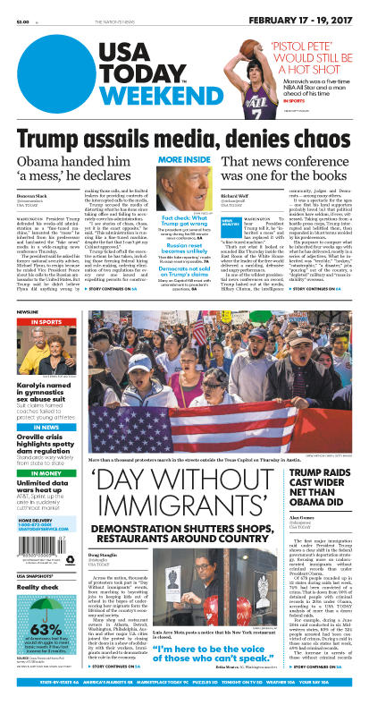 02/17/2017 Issue of USA TODAY MAIN