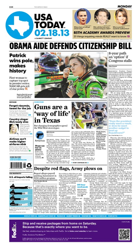 02/18/2013 Issue of USA TODAY