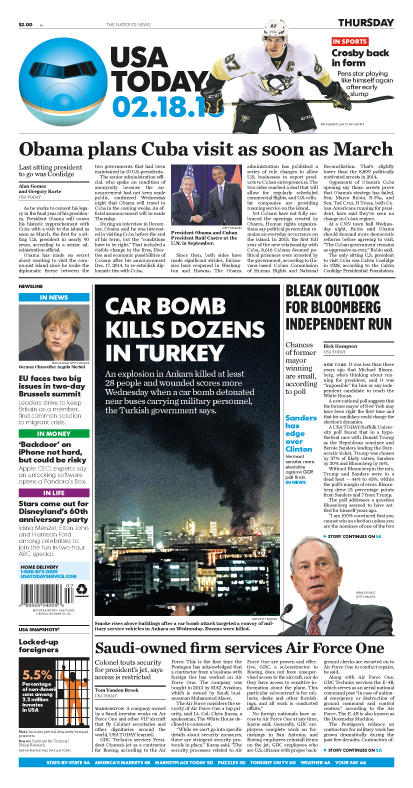 02/18/2016 Issue of USA TODAY