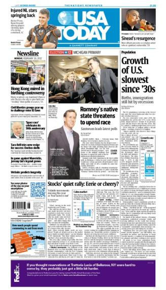 02/20/2012 Issue of USA TODAY