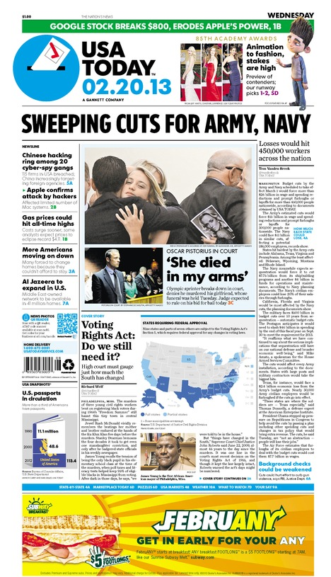 02/20/2013 Issue of USA TODAY