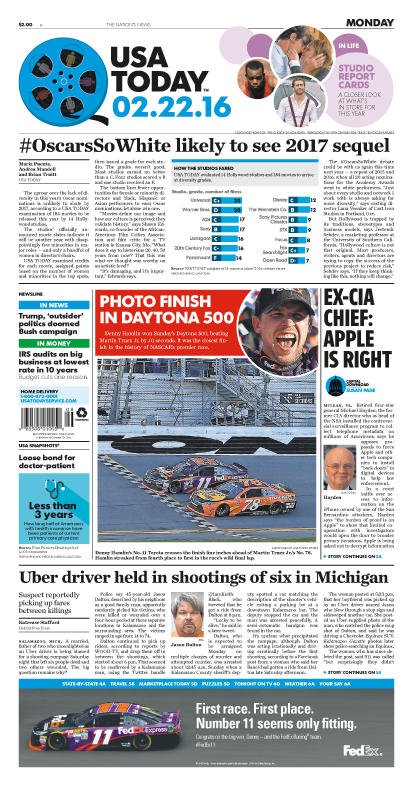 02/22/2016 Issue of USA TODAY