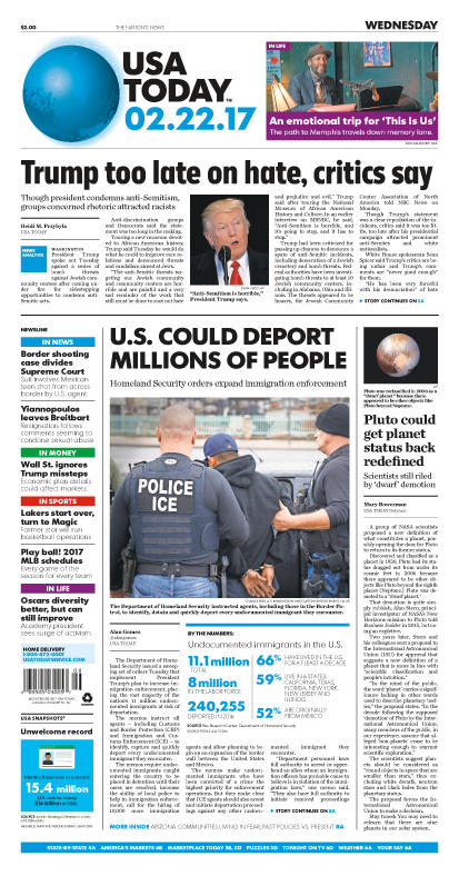 02/22/2017 Issue of USA TODAY