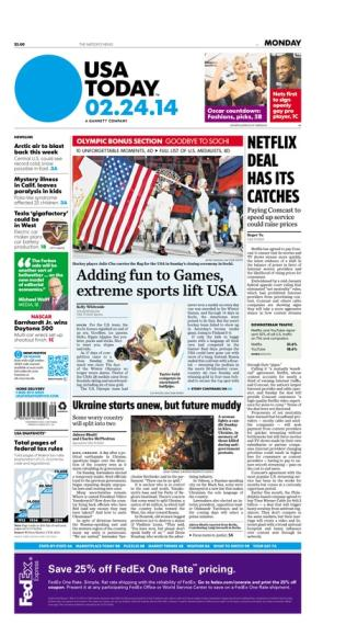 02/24/2014 Issue of USA TODAY