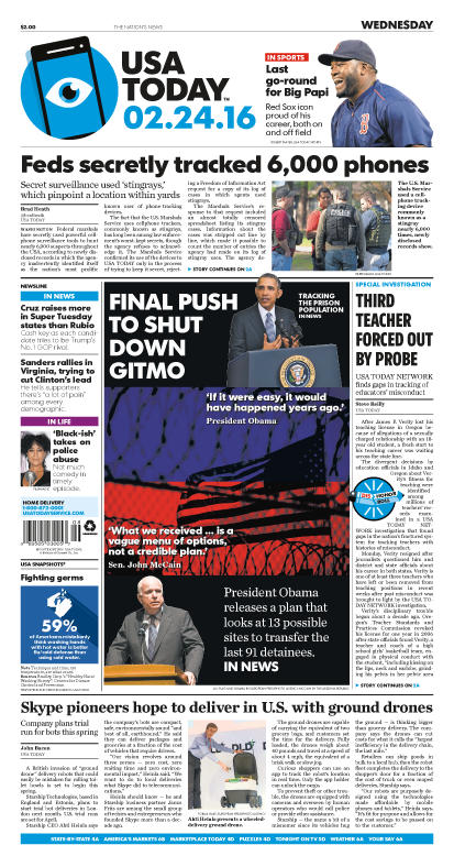 02/24/2016 Issue of USA TODAY