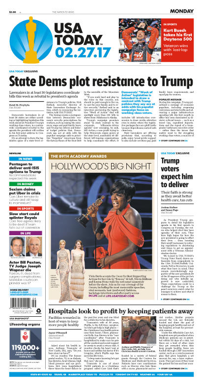 02/27/2017 Issue of USA TODAY