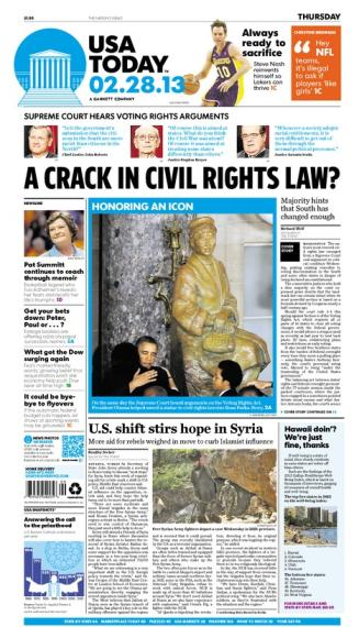 02/28/2013 Issue of USA TODAY