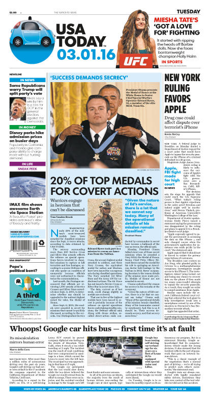 03/01/2016 Issue of USA TODAY