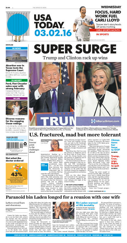 03/02/2016 Issue of USA TODAY