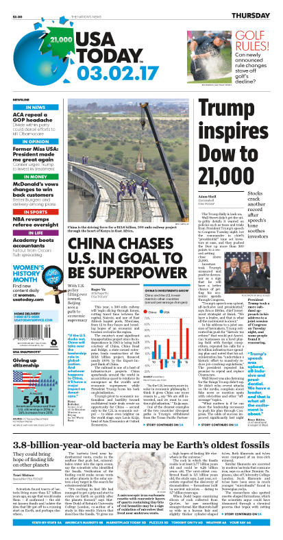 03/03/2017 Issue of USA TODAY