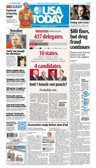 03/06/2012 Issue of USA TODAY