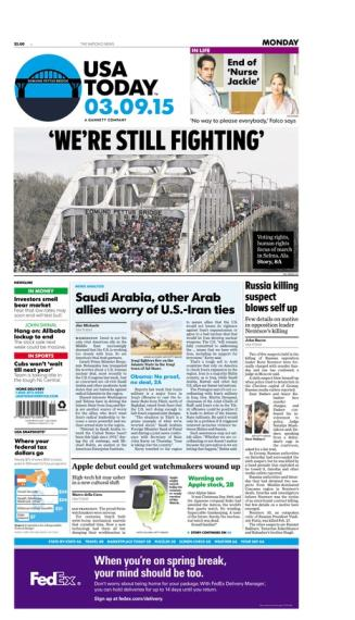 03/09/2015 Issue of USA TODAY