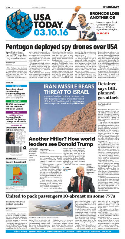 03/10/2016 Issue of USA TODAY