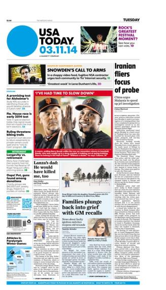 03/11/2014 Issue of USA TODAY
