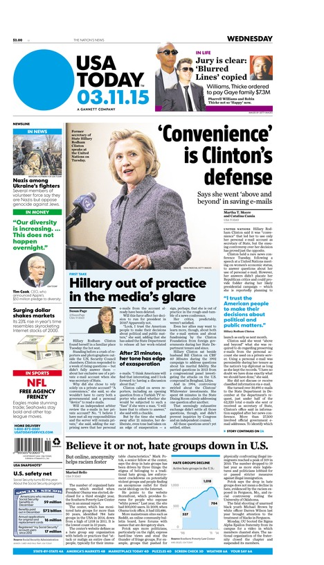 03/11/2015 Issue of USA TODAY