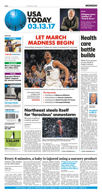 03/13/2017 Issue of USA TODAY MAIN