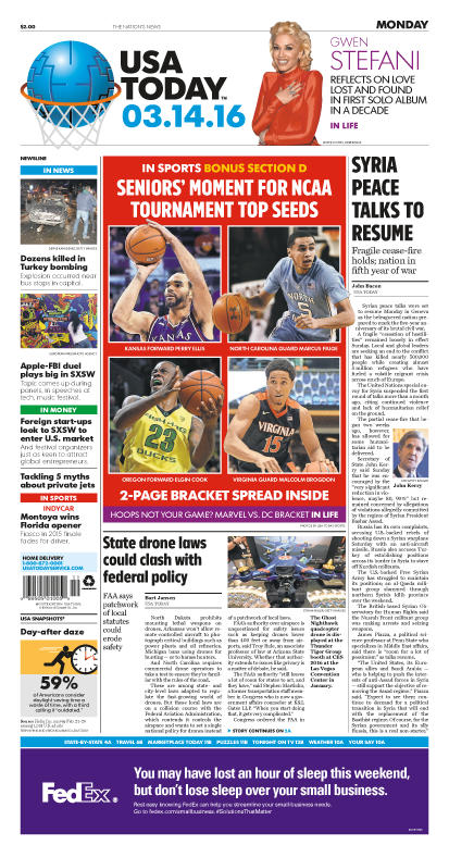 03/14/2016 Issue of USA TODAY